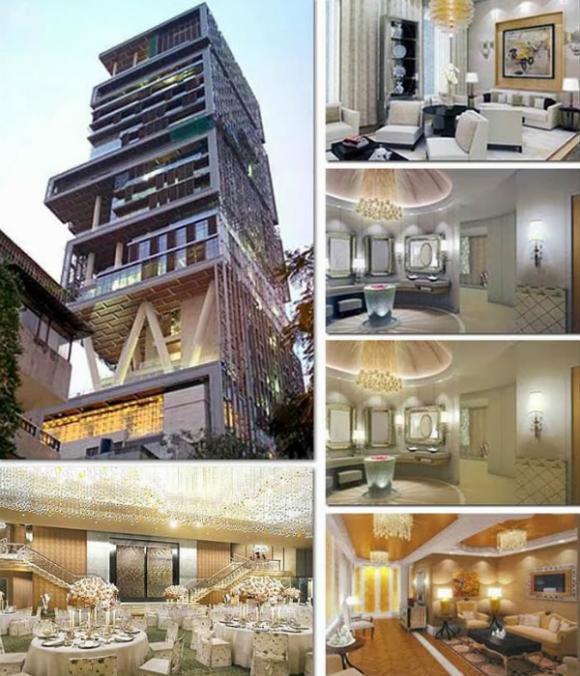 mukesh ambanis antilia Chiêm ngưỡng 10 ngôi nhà được thèm muốn nhất trên thế giới