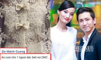 Đỗ Mạnh Cường tặng váy cưới đẹp lung linh cho Lê Thúy?