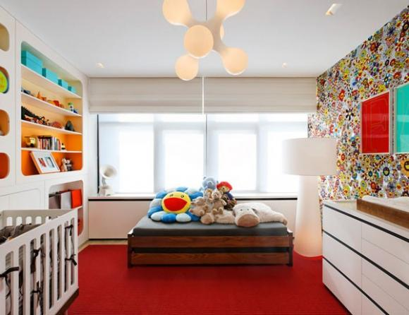 khong gian song ruc ro va may man voi mau do jpg8 Thiết kế không gian sống rực rỡ và may mắn với màu đỏ