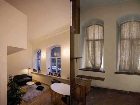 Ngắm căn hộ 24m² hiện đại trong lòng biệt thự cổ 4