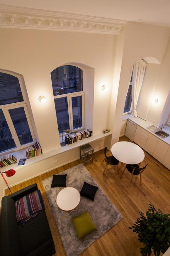 Ngắm căn hộ 24m² hiện đại trong lòng biệt thự cổ 5