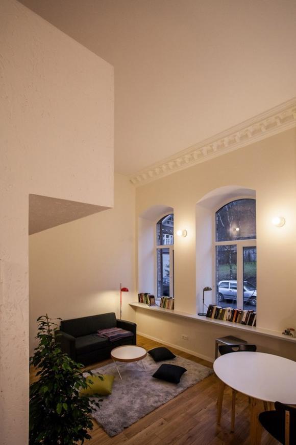 Ngắm căn hộ 24m² hiện đại trong lòng biệt thự cổ 7