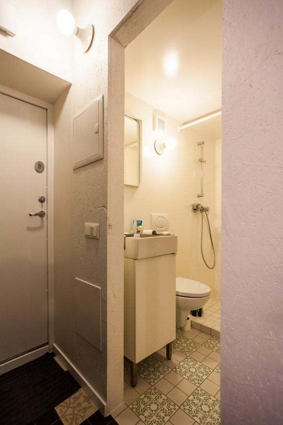 Ngắm căn hộ 24m² hiện đại trong lòng biệt thự cổ 10