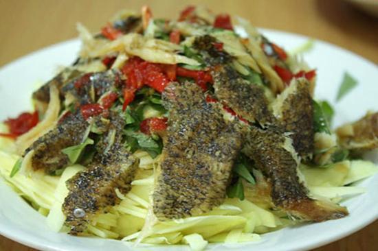 Ăn ngon,món ăn ngon,gỏi xoài khô cá lóc