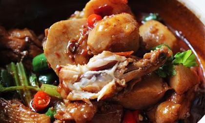 nồi cơm điện, gà hấp, dạy nấu ăn