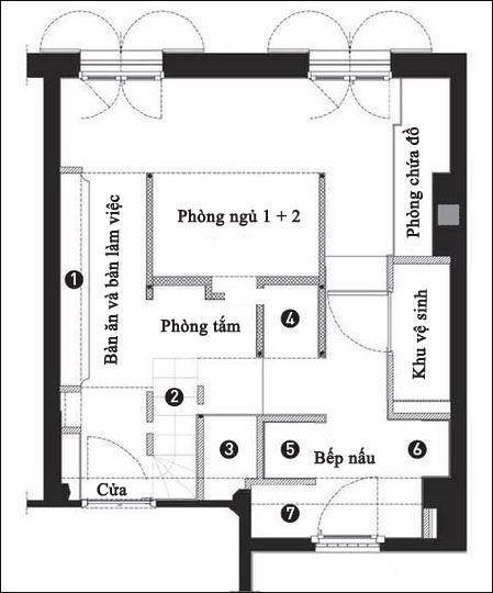 can ho 27m ca tinh voi 7 phan khong gian rieng biet jpg0 Thiết kế nội thất căn hộ 27m² cá tính với 7 phần không gian riêng biệt