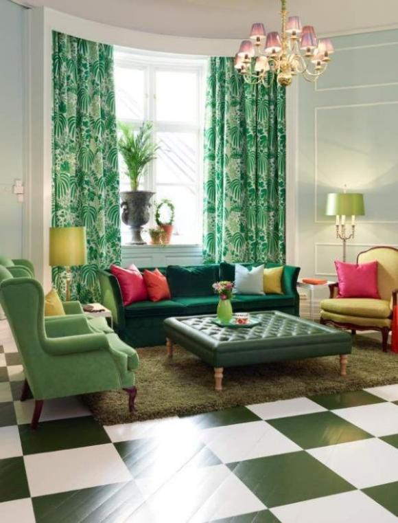 Nhà tươi mát trong nắng hè với màu xanh vỏ chanh 3