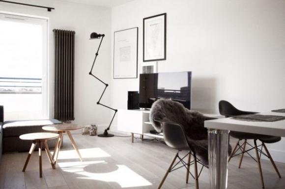 Căn hộ tuyệt đẹp nhờ sử dụng cặp màu kinh điển: đen-trắng 2