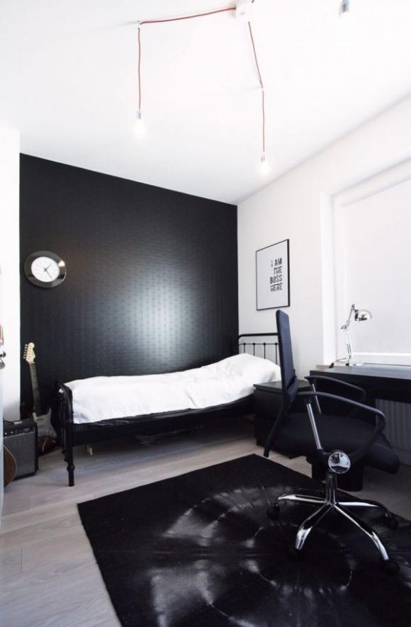 Căn hộ tuyệt đẹp nhờ sử dụng cặp màu kinh điển: đen-trắng 10