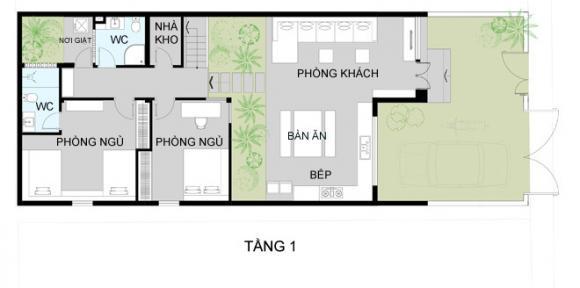 b12a5ea111a1405305150660x0 jpg13 Thiết kế không gian xanh tiện nghi trong nhà ống ở Sài Gòn