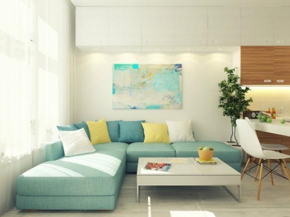 can ho 29m tuyet dep voi gam mau nha nhan jpg1 Tham quan căn hộ 29m² tuyệt đẹp với gam màu nhã nhặn