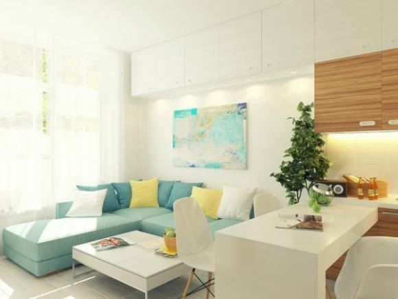 can ho 29m tuyet dep voi gam mau nha nhan jpg2 Tham quan căn hộ 29m² tuyệt đẹp với gam màu nhã nhặn