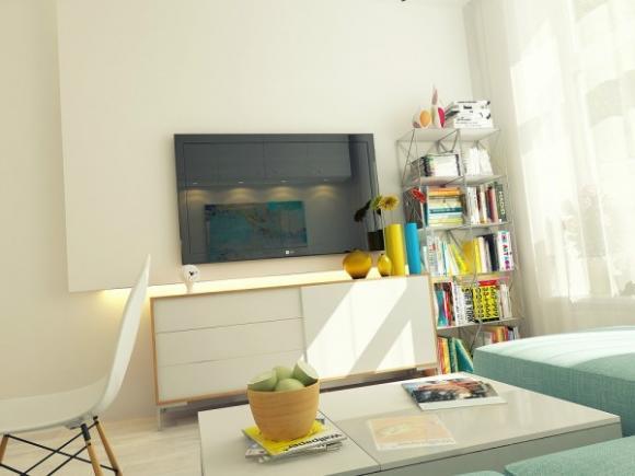 can ho 29m tuyet dep voi gam mau nha nhan jpg4 Tham quan căn hộ 29m² tuyệt đẹp với gam màu nhã nhặn