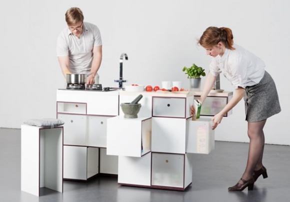 Thích thú với 5 mẫu bếp dài không quá một sải tay 13