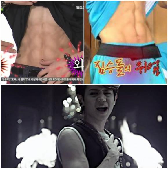 Cơ bụng 6 múi, Daesung, Luhan, Jaejoong, Yoseob, Nickhun