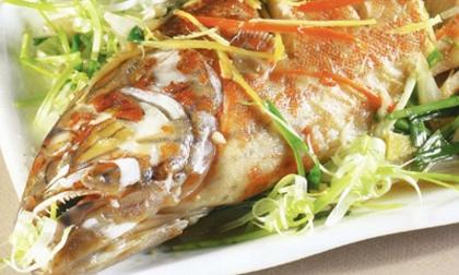cá hấp xì dầu, cả quả, món ăn cuối tuần, món mới