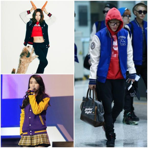 Thời trang ngày Tết, áo da, áo len, áo bóng chày, áo phao, áo hoodies