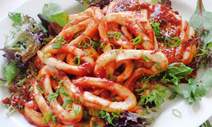 mực nướng, món ngon từ mực, mực nướng bằng lò vi sóng