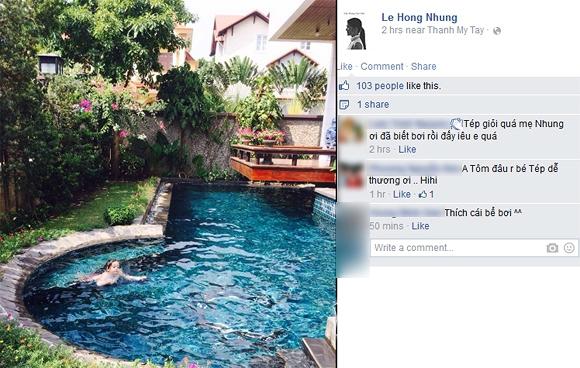 con Hồng Nhung, bé Tôm, bé Tép, sao nhí Việt, sao Việt, sao Viet
