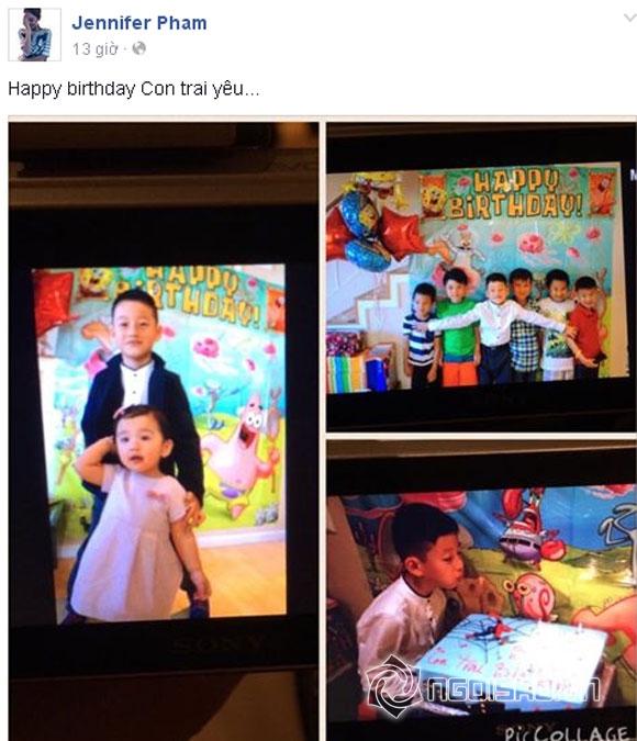 Jennifer Phạm sinh nhật bảo nam, sinh nhật bé bảo nam, con của Jennifer Phạm