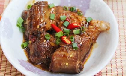 sườn xào chua ngọt,cách làm sườn xào chua ngọt,thực đơn của người Việt,món ngon ngày mát