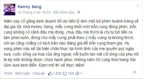 Kenny Sang, hotboy đẹp nhất Việt Nam, Kenny Sang giả giá,  Kenny Sangđi xe tiền tỷ, Kenny Sang đại náo Thách thức danh hài, Thách thức danh hài casting
