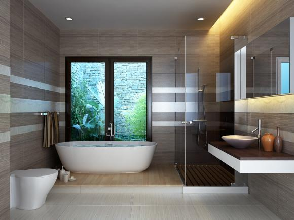 nha tam 3 ngoisao.vn Chia sẻ cách hóa giải những điểm nghịch phong thủy của phòng tắm