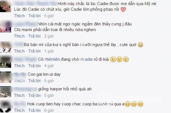 Cadie,con gai Elly Tran,be Cadie,sao Viet,sao nhi