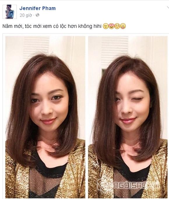 Jennifer Phạm,Jennifer Phạm tóc mới,Jennifer Phạm trẻ như gái đôi mươi