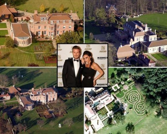 beckham doi 8 ngoi nha8 ngoisao.vn Cùng nhìn qua 8 ngôi nhà bạc tỷ của vợ chồng nhà Becks