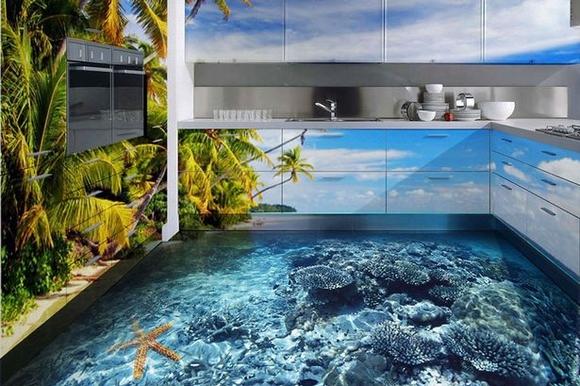 Gạch 3D lát nền biến sàn nhà thành các tác phẩm nghệ thuật 10