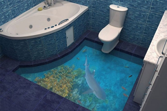 Gạch 3D lát nền biến sàn nhà thành các tác phẩm nghệ thuật 5