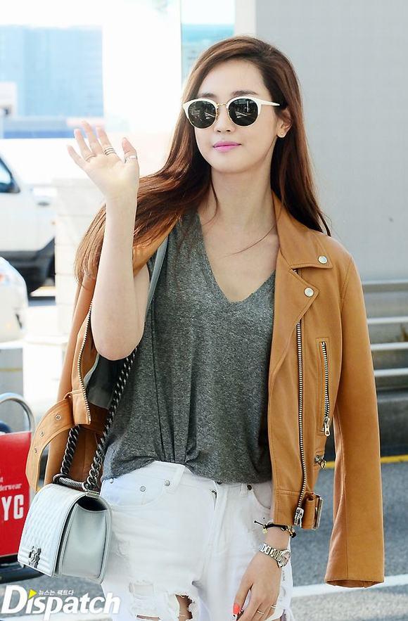 Lee Da Hae, thời trang Lee Da Hae, diễn viên Lee Da Hae, Lee Da Hae thời trang sân bay, tin ngoi sao