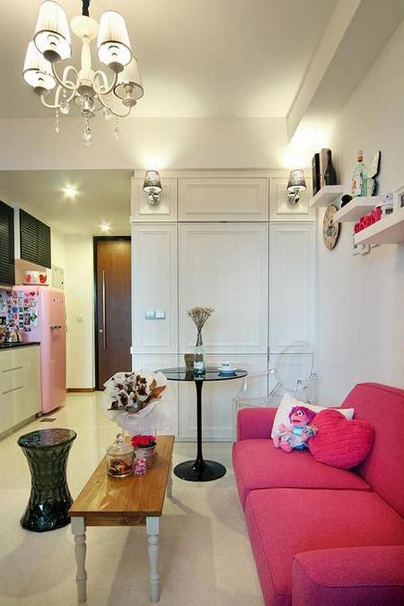 Trang trí nội thất thanh lịch của căn hộ 33 m2  4