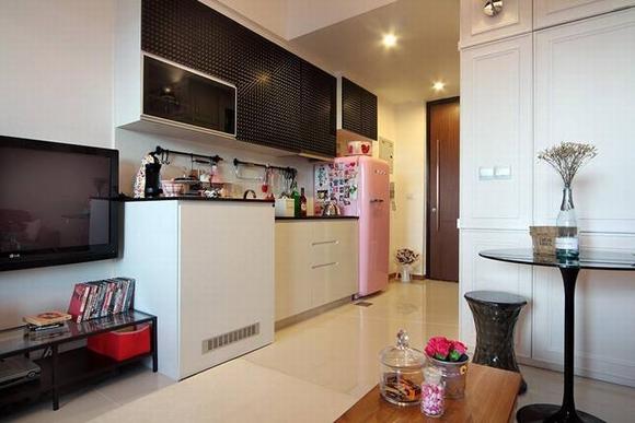 Trang trí nội thất thanh lịch của căn hộ 33 m2  3