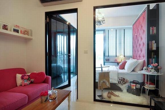 Trang trí nội thất thanh lịch của căn hộ 33 m2  0