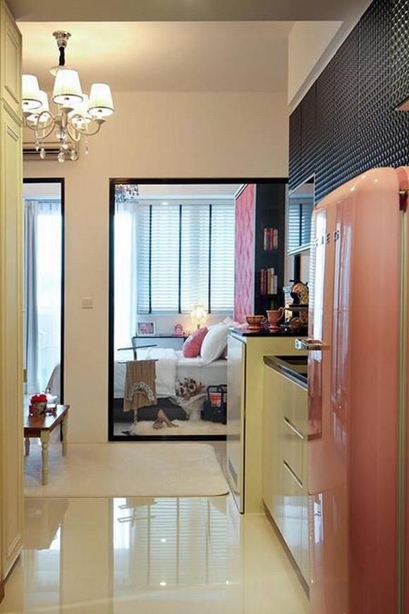 Trang trí nội thất thanh lịch của căn hộ 33 m2  9