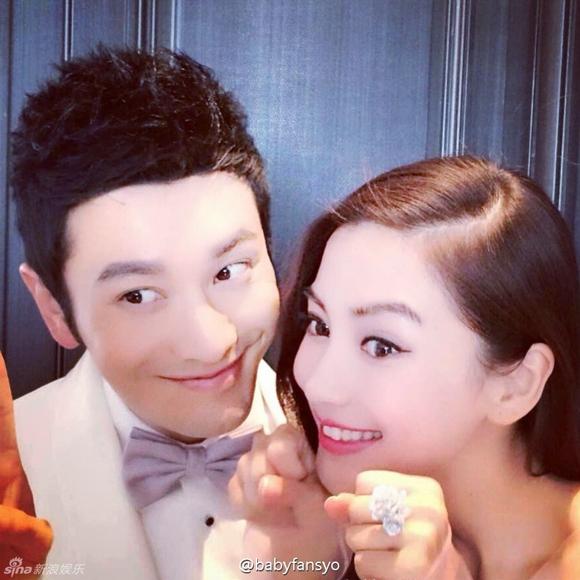 Lộ ảnh cưới của Huỳnh Hiểu Minh và Angela Baby