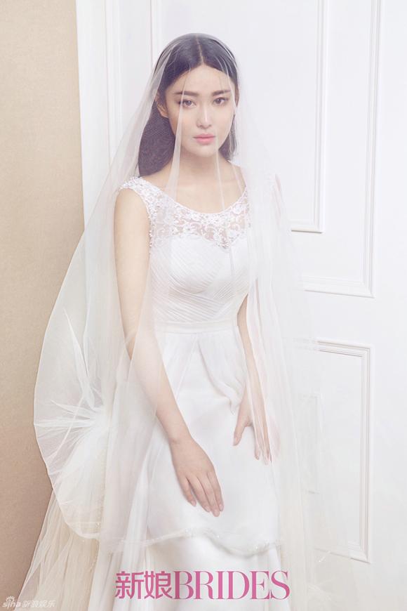 Trương Hinh Dư đẹp như thiên thần khi mặc váy cưới 0