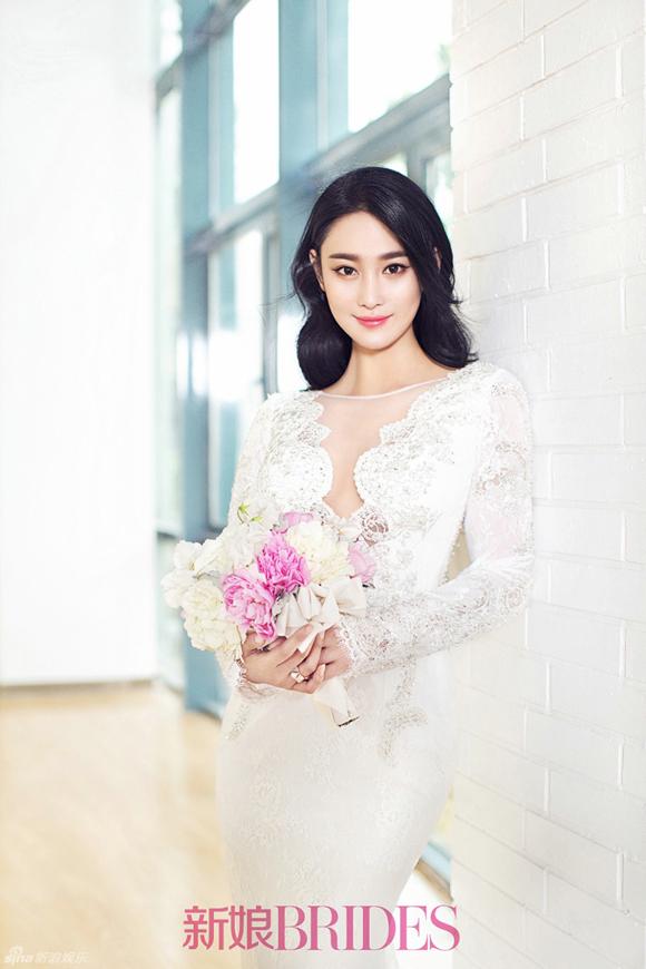 Trương Hinh Dư đẹp như thiên thần khi mặc váy cưới 8