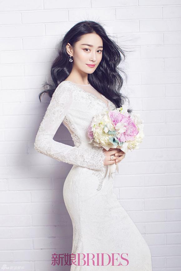 Trương Hinh Dư đẹp như thiên thần khi mặc váy cưới 2