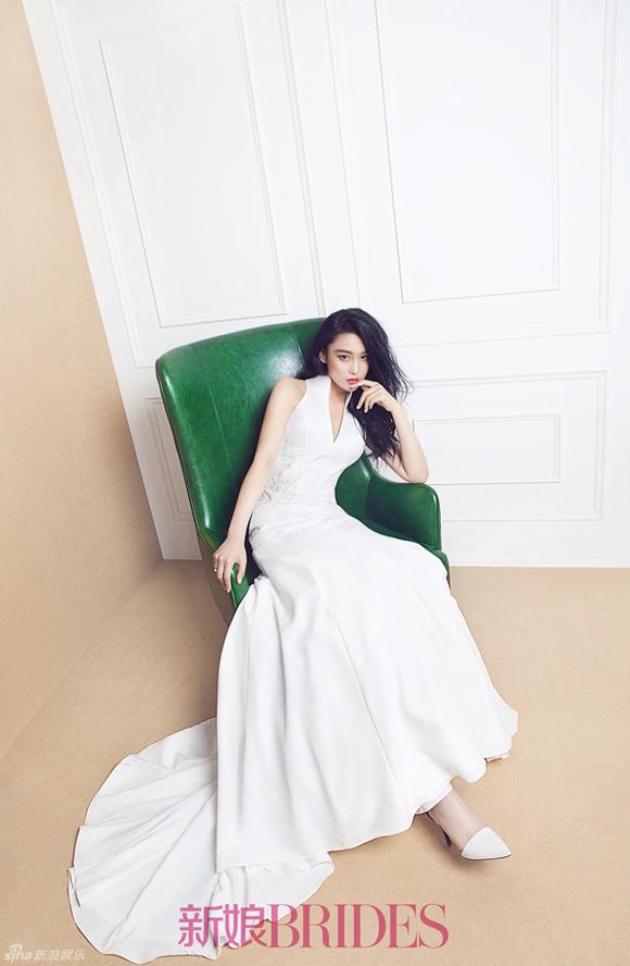 Trương Hinh Dư đẹp như thiên thần khi mặc váy cưới 3