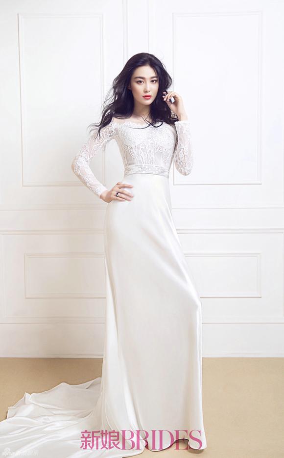 Trương Hinh Dư đẹp như thiên thần khi mặc váy cưới 4