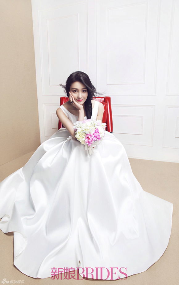 Trương Hinh Dư đẹp như thiên thần khi mặc váy cưới 5