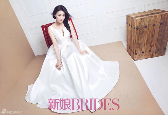 Trương Hinh Dư đẹp như thiên thần khi mặc váy cưới 6