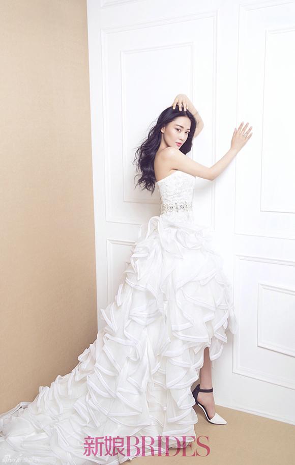 Trương Hinh Dư đẹp như thiên thần khi mặc váy cưới 7