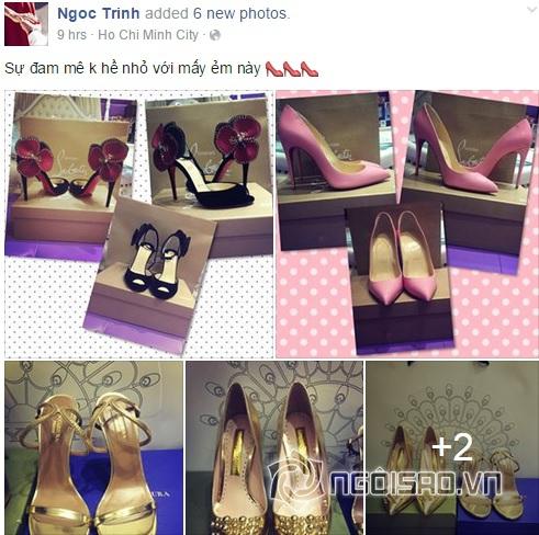 Ngọc Trinh khoe giày hiệu  9