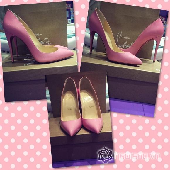 Ngọc Trinh khoe giày hiệu  5