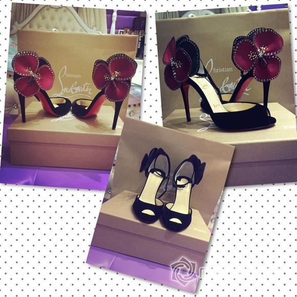 Ngọc Trinh khoe giày hiệu  7