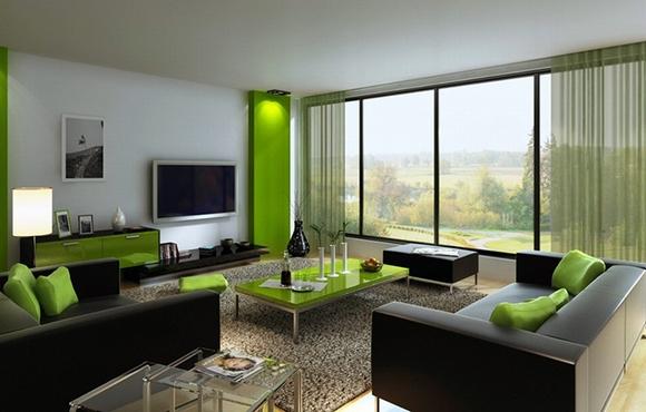 trang tri phong khach tuyet dep voi noi that mau xanh 1 ngoisao.vn Thiết kế và trang trí phòng khách tuyệt đẹp với điểm nhấn nội thất màu xanh